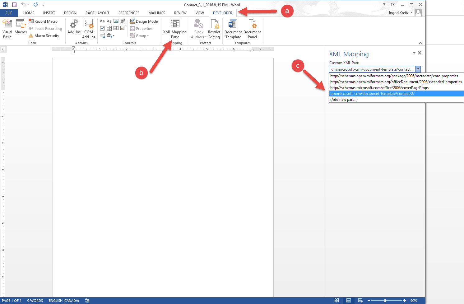 Word Templates in Microsoft Dynamics CRM | Encore Business Solutions
