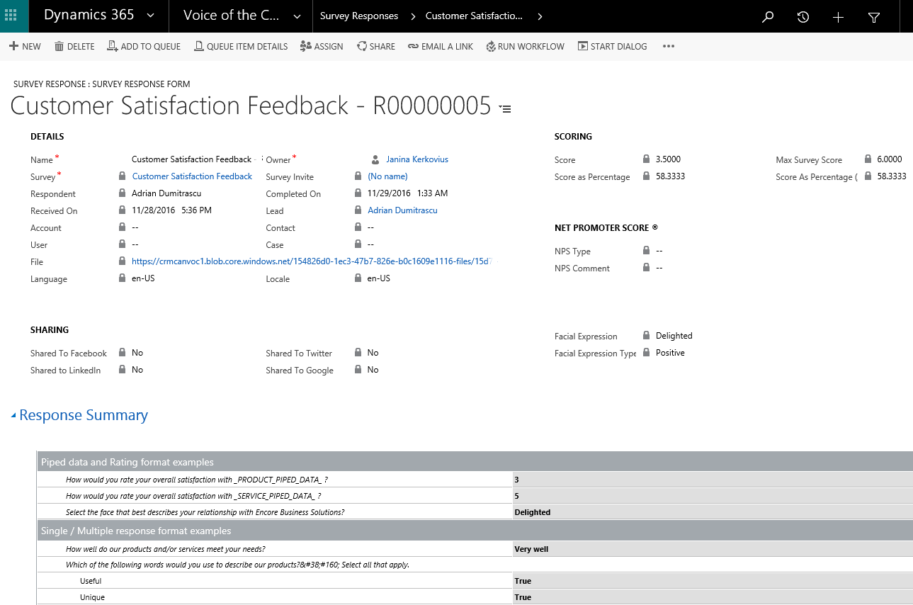 Dynamics 365 | Voice of the Customer Feature | Encore Business Solutions
