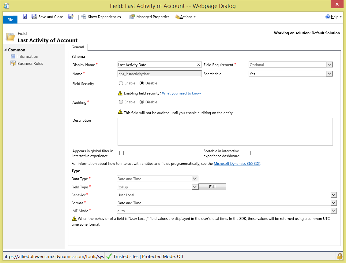 Track 'Last Activity Date' in Dynamics CRM (Dynamics 365) | Encore
