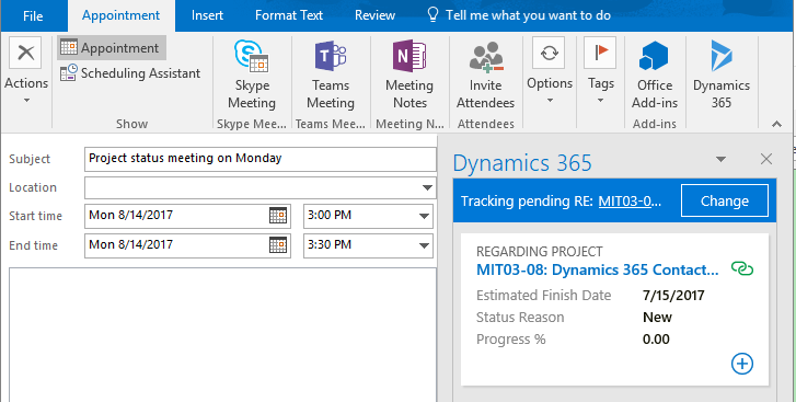 The Microsoft Dynamics 365 App for Outlook | Encore Business Solutions