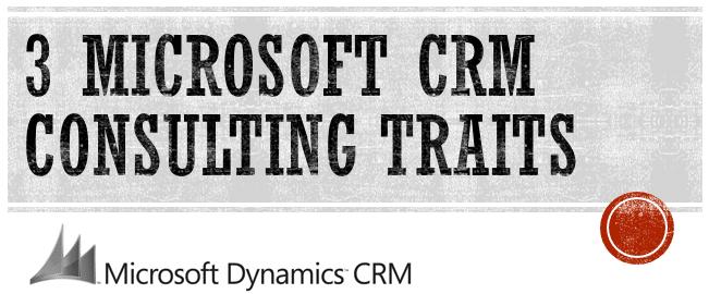 Microsoft Dynamics CRM Partner Consulting Traits