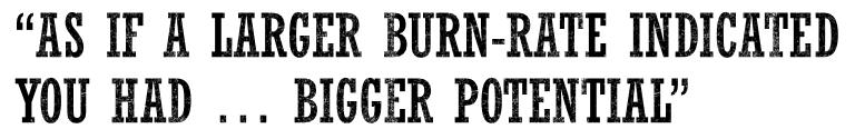 Quote regarding burn rate in dot.com era.
