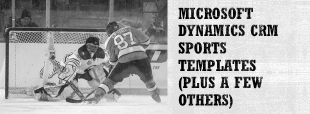 Microsoft Dynamics CRM Sports Templates