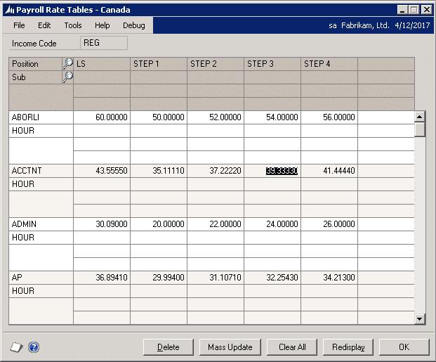 paycode mass update
