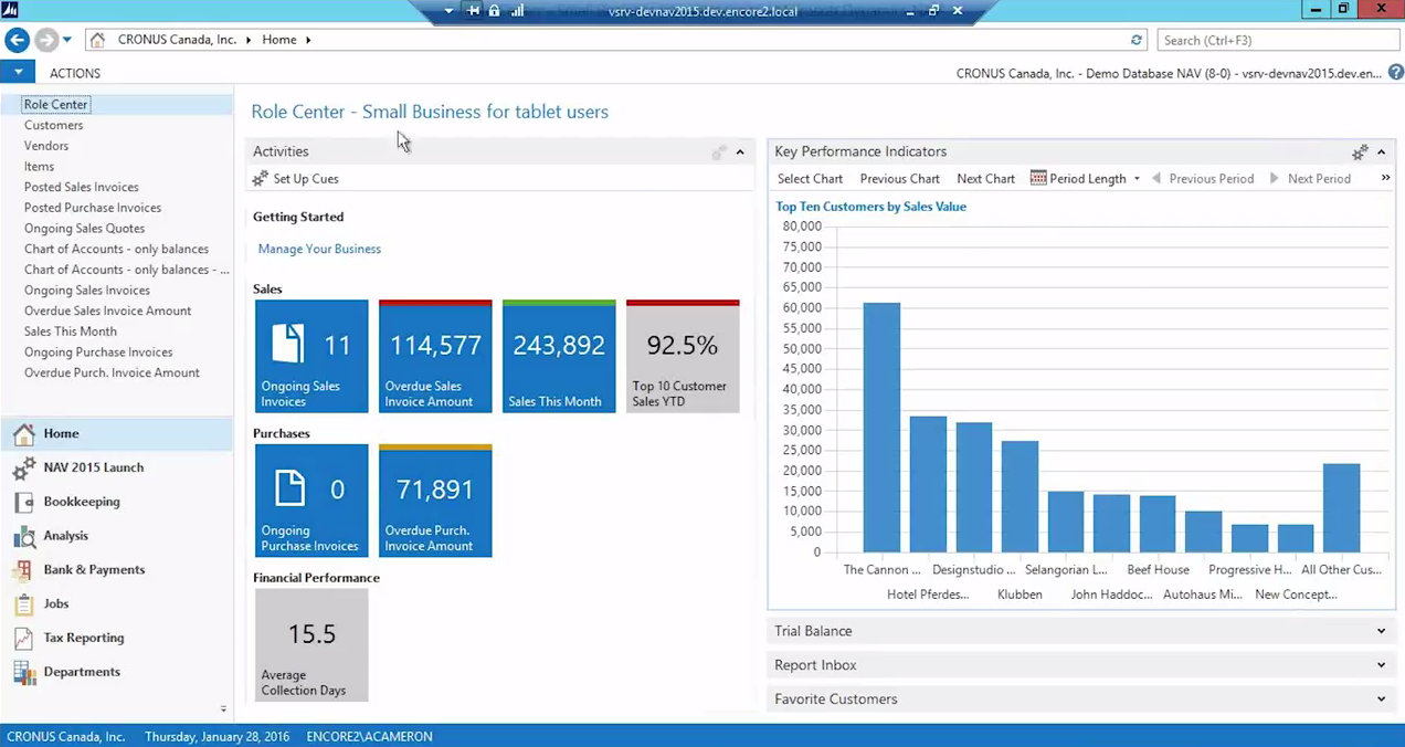 Microsoft Dynamics Nav 2015 Overview New Features