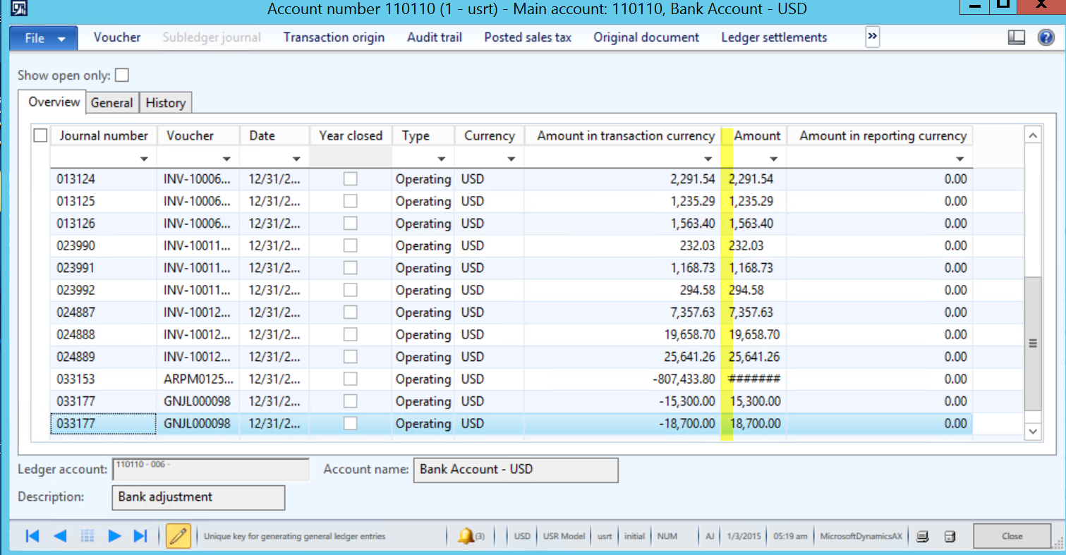 Currency And System Date Views In Dynamics Ax