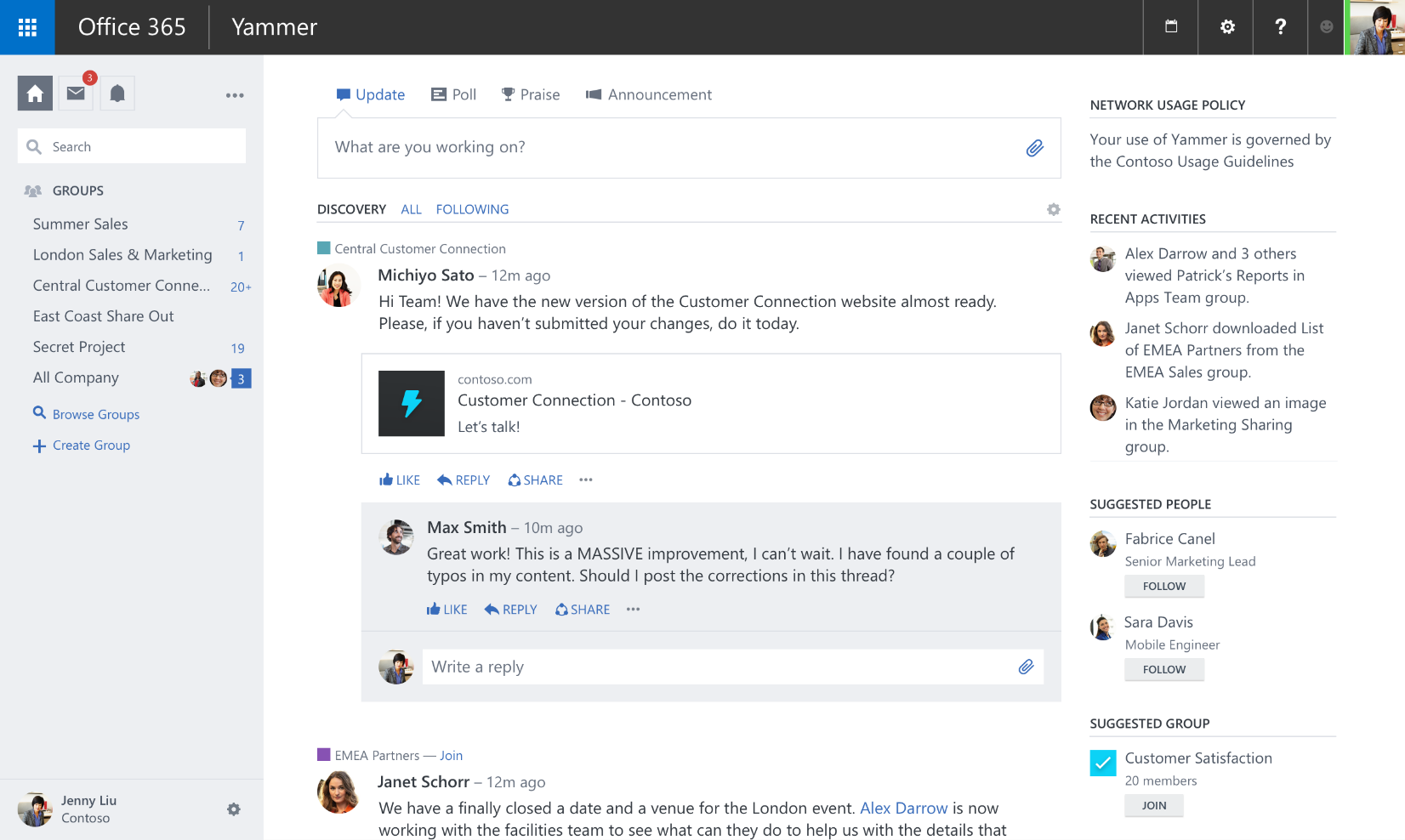 Yammer Vs Slack Encore Business Solutions