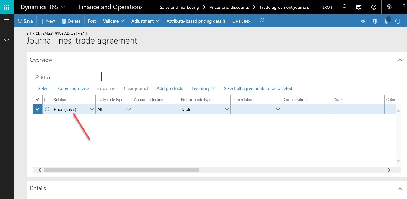 Dynamics 365 Journal Lines