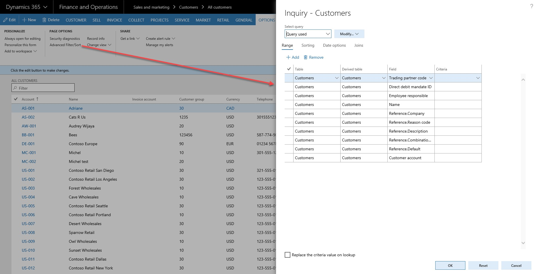 Filters in Dynamics 365 for Finance & Operations | Encore