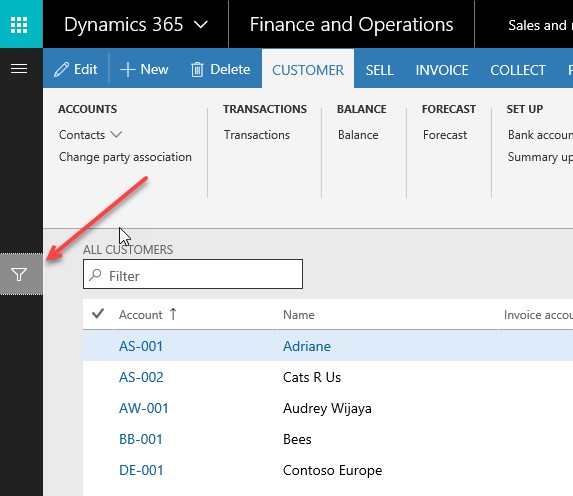 Filters in Dynamics 365 for Finance & Operations | Encore Business