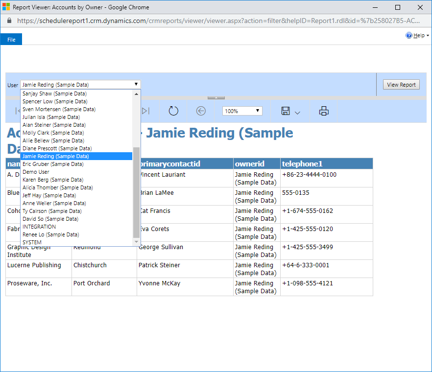 Scheduling Reports in Microsoft Dynamics 365 | Encore