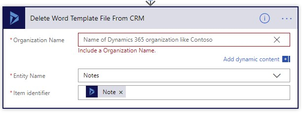 Delete Word Template File From CRM