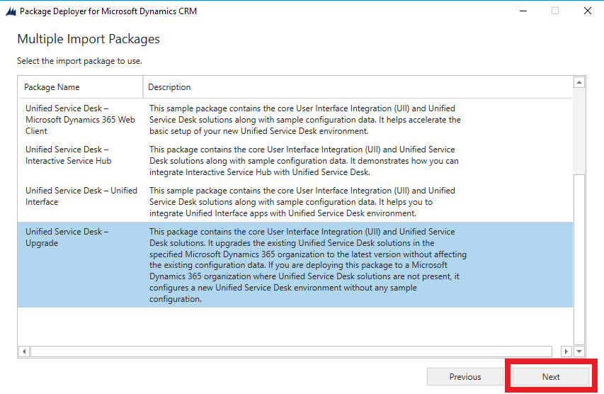 Unified Service Desk Upgrade for Dynamics 365 Customer