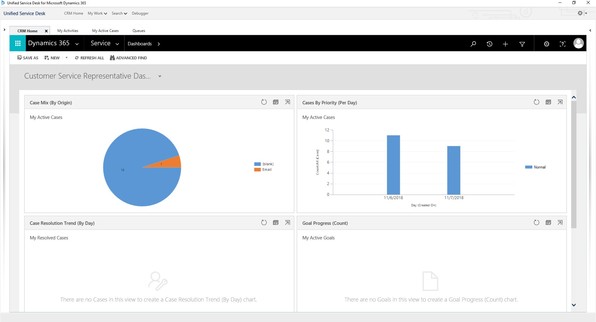 Dynamics 365 Customer Engagement Standard Web Client Interface