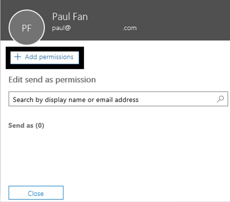 Add send as permissions - D365 Business Central