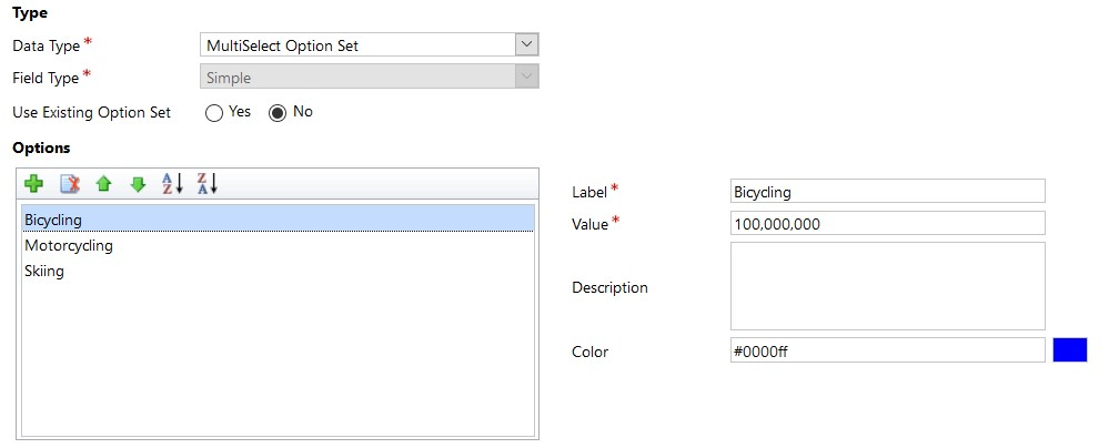 Multi-Select Option Set in Dynamics 365