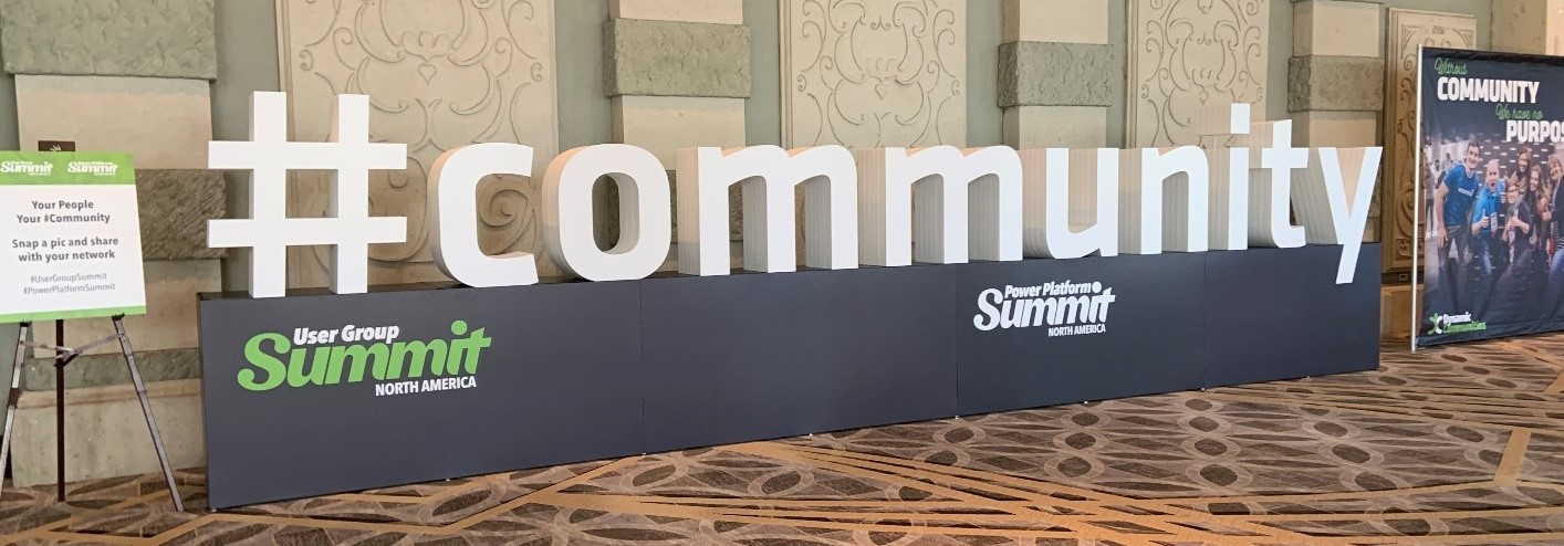 Community Sign - Summit 2019