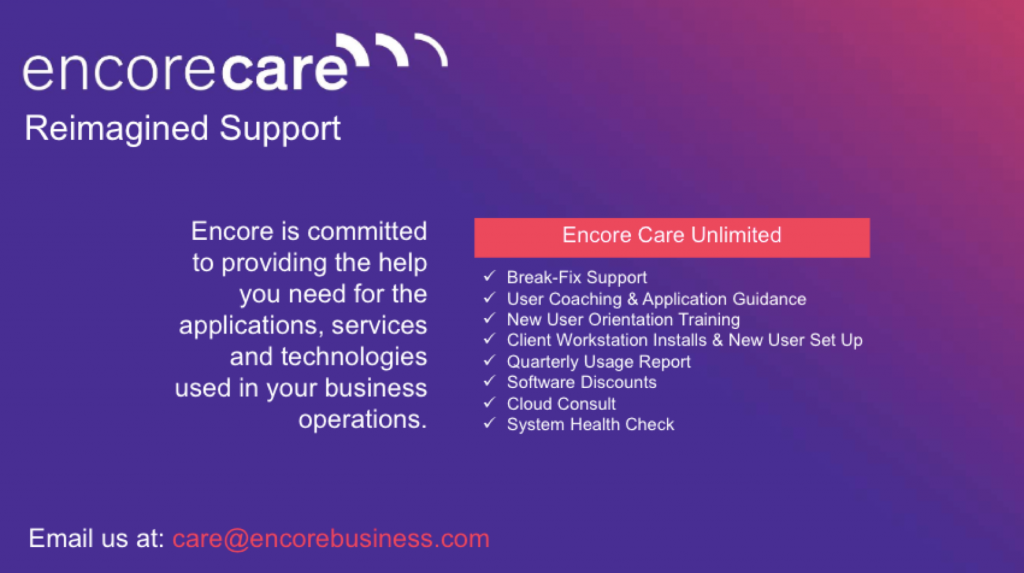 Outline of Encore Care Unlimited