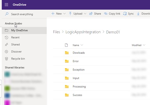 Dynamics 365 F&O - OneDrive Folder Structure