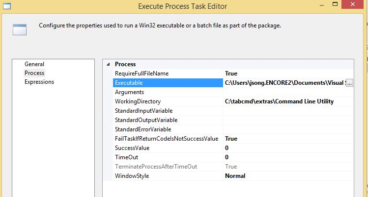 select tableau command line utility