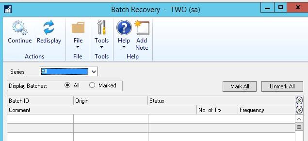 Batch Recovery