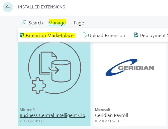 Dynamics 365 Business Central Extensions