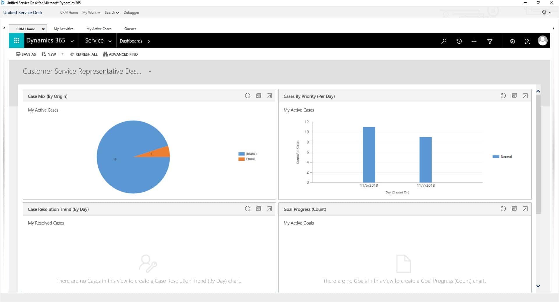 Dynamics 365 Customer Engagement Standard Web Client Interface