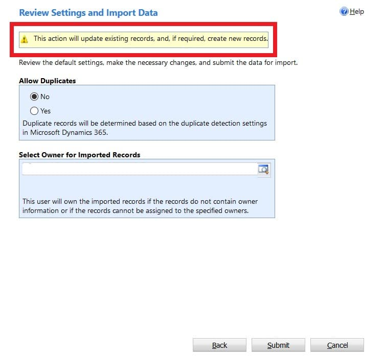 Import in Dynamics 365 Customer Engagement