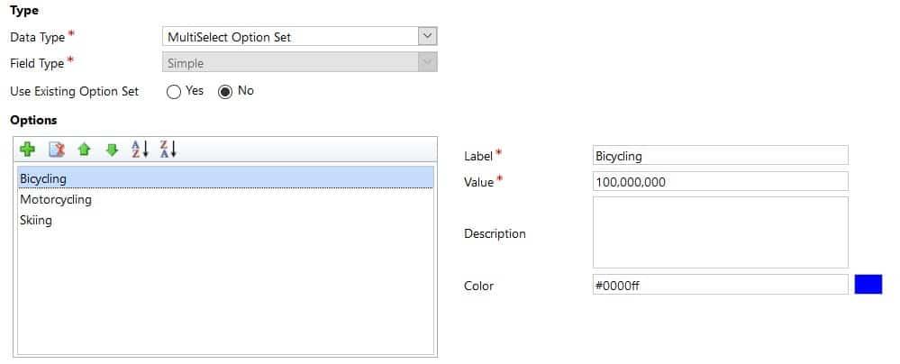 Multi-Select Option Set in Dynamics 365