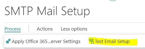 SMTP Mail - Test Email Setup