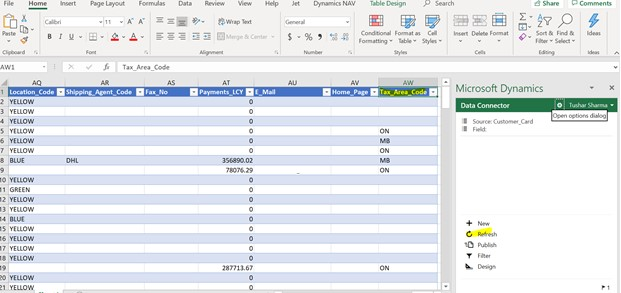 D365 Business Central - Edit in Excel Refresh